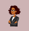professional portrait a strong business woman vector image vector image