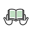 Reading Holy Book vector image vector image