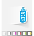 realistic design element canned beer vector image vector image