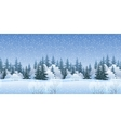 Seamless Landscape with Christmas Trees vector image vector image