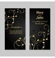 Set of wedding invitation cards design vector image
