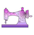 sewing machine with transition colors vector image vector image