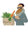 Shop local eat organic vector image vector image