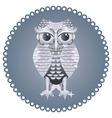 Silver Owl vector image vector image