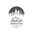 skateboard park logotype vector image vector image