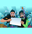 snorkeling poster vector image