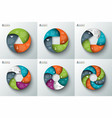 spiral circle element for infographic vector image vector image