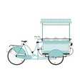 street food bicycle vector image vector image