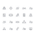 team human resources hr staff line icons set vector image vector image