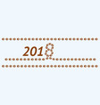 template for the dog year vector image vector image
