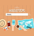 travel search graphic for vacation vector image vector image