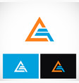 triangle shape pyramid technology logo vector image vector image
