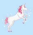 unicorns are real quote drawing cute unicorn vector image vector image