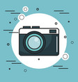 vintage camera icon vector image vector image