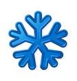 winter volume snowflake vector image