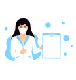 woman doctor in a white medical coat and vector image vector image