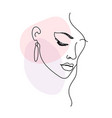 woman face portrait in minimalist modern style vector image vector image