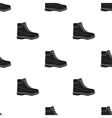 Hiking boots icon in black style isolated on vector image