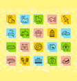 pets care stickers vector image