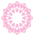 round lace doily vector image