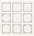 art deco square black frames and borders set vector image vector image