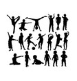 baand kid silhouettes vector image vector image