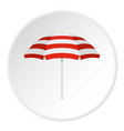 beach umbrella icon circle vector image