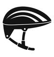 bike helmet icon simple style vector image