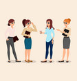 business people training girl presentation vector image vector image