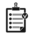 Check list icon simple style vector image vector image