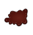chocolate sweet splash chocolate liquid blot vector image