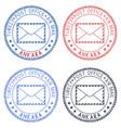 colored postal stamps ankara turkey postmarks vector image vector image