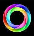 Colorful ring vector image vector image