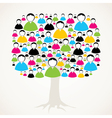 colorful social media network tree stock vector image vector image