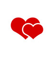 couple heart icon graphic design template vector image vector image