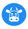 cow flat icon single high quality outline symbol vector image vector image