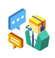 customer support isometric vector image vector image