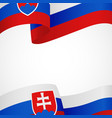 decoration of slovakia insignia on white vector image vector image