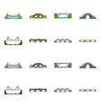 design of connection and design symbol set vector image vector image