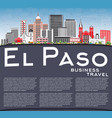el paso skyline with gray buildings blue sky and vector image vector image