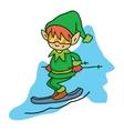 Elf ski helpers CHristmas art vector image vector image
