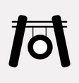 gong icon vector image