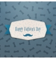 Happy Fathers Day realistic Label with blue Ribbon vector image vector image