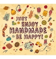 Happy handmade color card vector image vector image