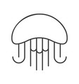 jelly fish outline icon on white background vector image vector image