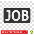 Job Text Eps Icon vector image