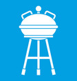 kettle barbecue icon white vector image vector image
