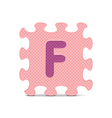 letter F written with alphabet puzzle vector image