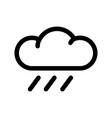 light rain icon vector image