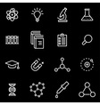 line science icon set vector image vector image